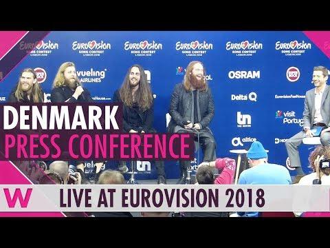 Denmark Press Conference: Rasmussen Higher Ground @ Eurovision 2018 | wiwibloggs