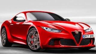 PRÉVIA Alfa Romeo 6C 2017 RWD 3.0 Maserati V6 Biturbo 520 cv @ Concorrente do F-Type & Porsche 911