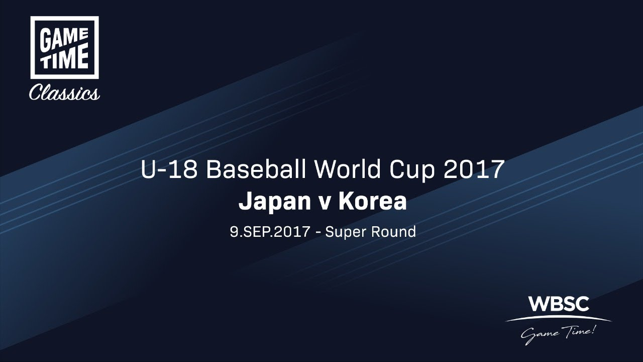 Japan v Korea - U-18 Baseball World Cup 2017 - Super Round