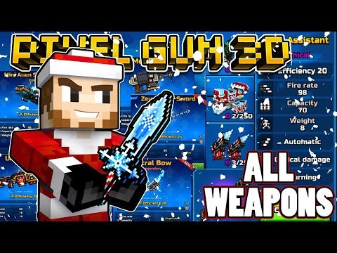 REVIEWING ALL THE NEW WEAPONS - Pixel Gun 3D -  Brand New Update 13.1.0
