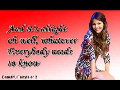 Victoria Justice   You're The Reason letra Victorious   YouTube