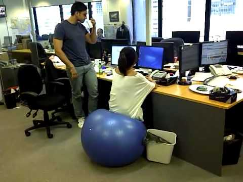 Ball Chair For Office Ashley Swivel Swiss Fail Youtube