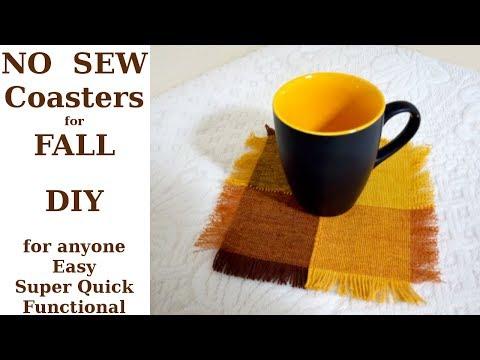 DIY NO SEW Coasters / Easy & Quick FALL DIY / FALL Craft for anyone