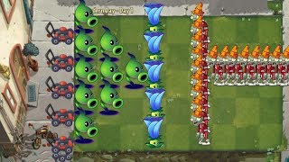 Plants vs Zombies 2 - Shadow Peashooter and Moonflower vs all Zombies