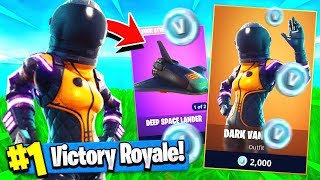 "NEW ""DARK VANGUARD"" SKIN Update + GLIDER!! ( Fortnite Vanguard Gameplay )"