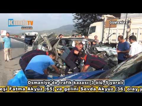 Osmaniye'de Trafik Kazası 3 ölü, 5 Yaralı