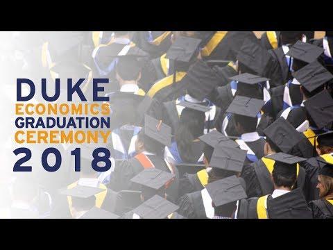 Duke University Department of Economics Graduation 2018