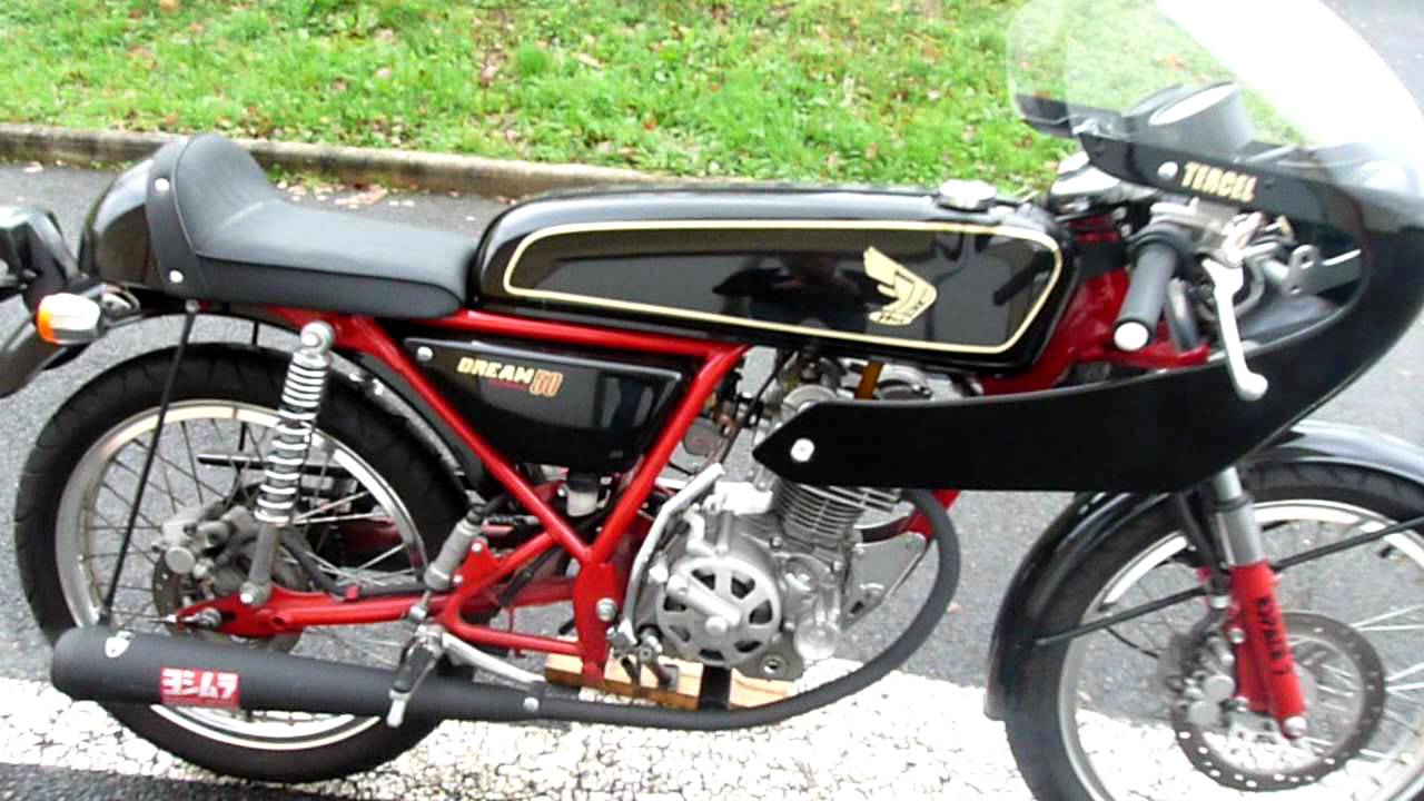 honda dream50 black and red full equiped in france youtube. Black Bedroom Furniture Sets. Home Design Ideas