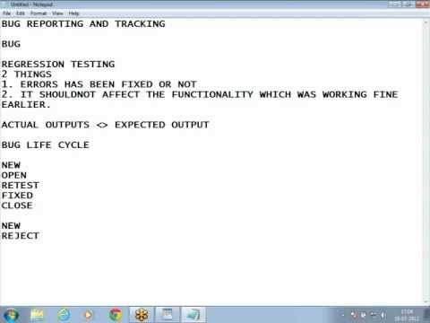 Bug Reporting And Tracking (software testing)
