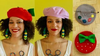🇫🇷 DIY BERET + 2 DIOR INSPIRED BERETS 🇫🇷 PARIS CULTURE COUTURE 🇫🇷