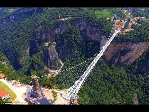 terrifying zhangjiajie grand canyon glass bridge china worlds tallest and longest glass bridge - Zhangjiajie Glass Bridge