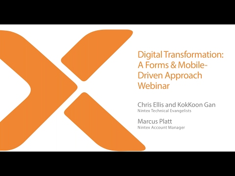 Digital Transformation A Forms & Mobile Driven Approach Webinar