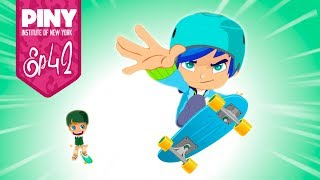PINY Institute of New York - El Skater (T1 - Ep42) 🌟 ❤ 🌟 DISNEY CHANNEL