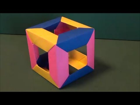 ハート 折り紙:折り紙 立方体 折り方-youtube.com