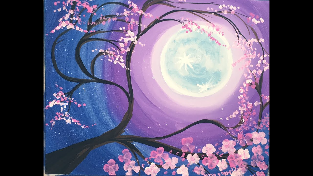 Moon Painting Images Easy