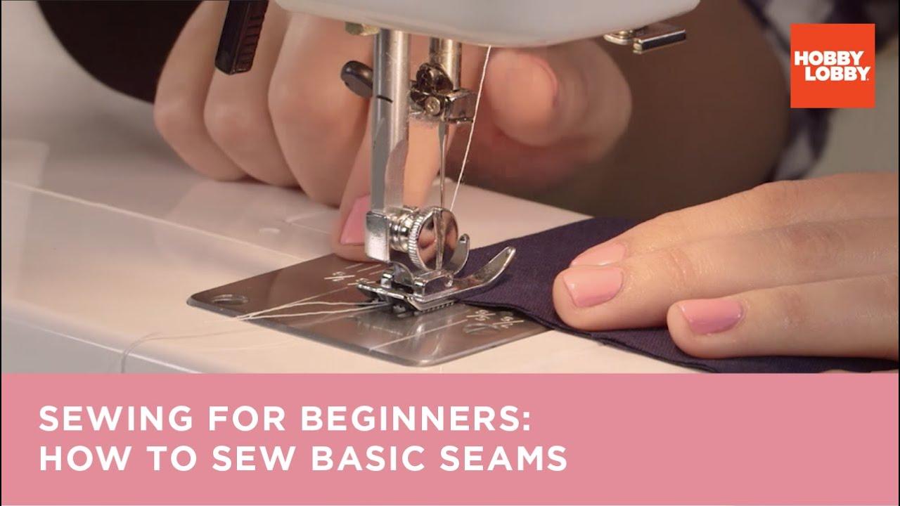 Learn to Sew: Basic Seams