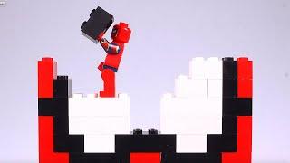 Lego Spider-man Brick Building Heads Animation for Kids