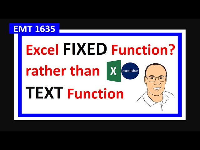 Excel FIXED Function Easier than TEXT Function! (DOLLAR Function too). Excel Magic Trick 1635