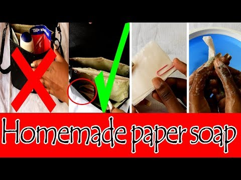 How To Make Paper Soap at home | Homemade Paper Soap | Travel Friendly | Travel Essentials