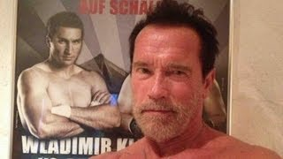 Arnold Schwarzenegger Exchanges Shirtless Pics With Boxer