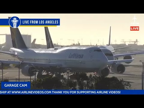 Download 10+ HOURS! SUNRISE to SUNSET 🔴LIVE Stream at Los Angeles International Airport (LAX)