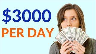 Earn $3000 Per Day Online! (Best Way to Make Money Online)