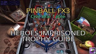 Pinball FX3 - Civil War Table - Heroes Imprisoned Trophy Guide