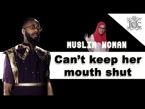 The Israelites: Muslim Woman Can't Keep Her Mouth Shut.