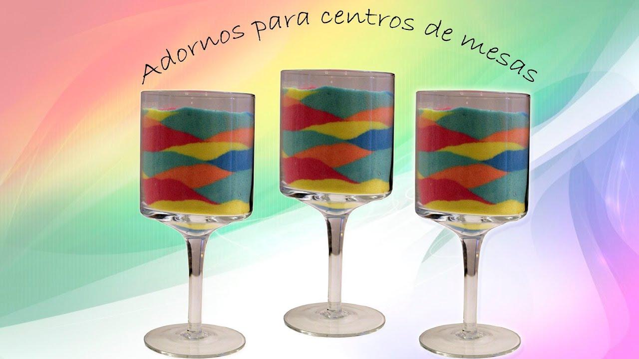 Centro de mesa o adorno con copas como colorear la sal - Colores para colorear ...