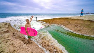 RIVER SURFING IN CALIFORNIA! (POOPIES)