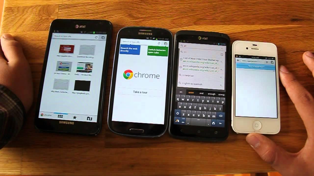 Samsung Galaxy S3 vs HTC One X vs Samsung Galaxy Note vs ...
