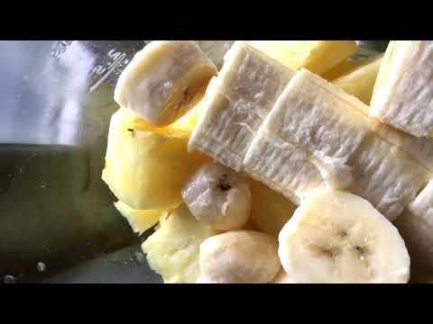 How to make aloe vera, pineapple, banana, coconut milk -  healthy smoothie
