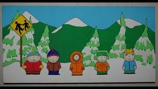 "Speed drawing sur toile ""South park"""