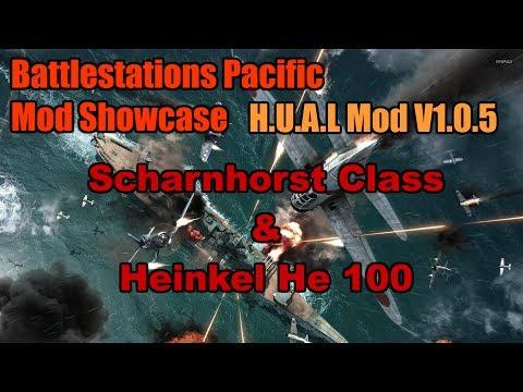 Battlestations Pacific Mod Showcase: Scharnhorst Class and Heinkel He 100