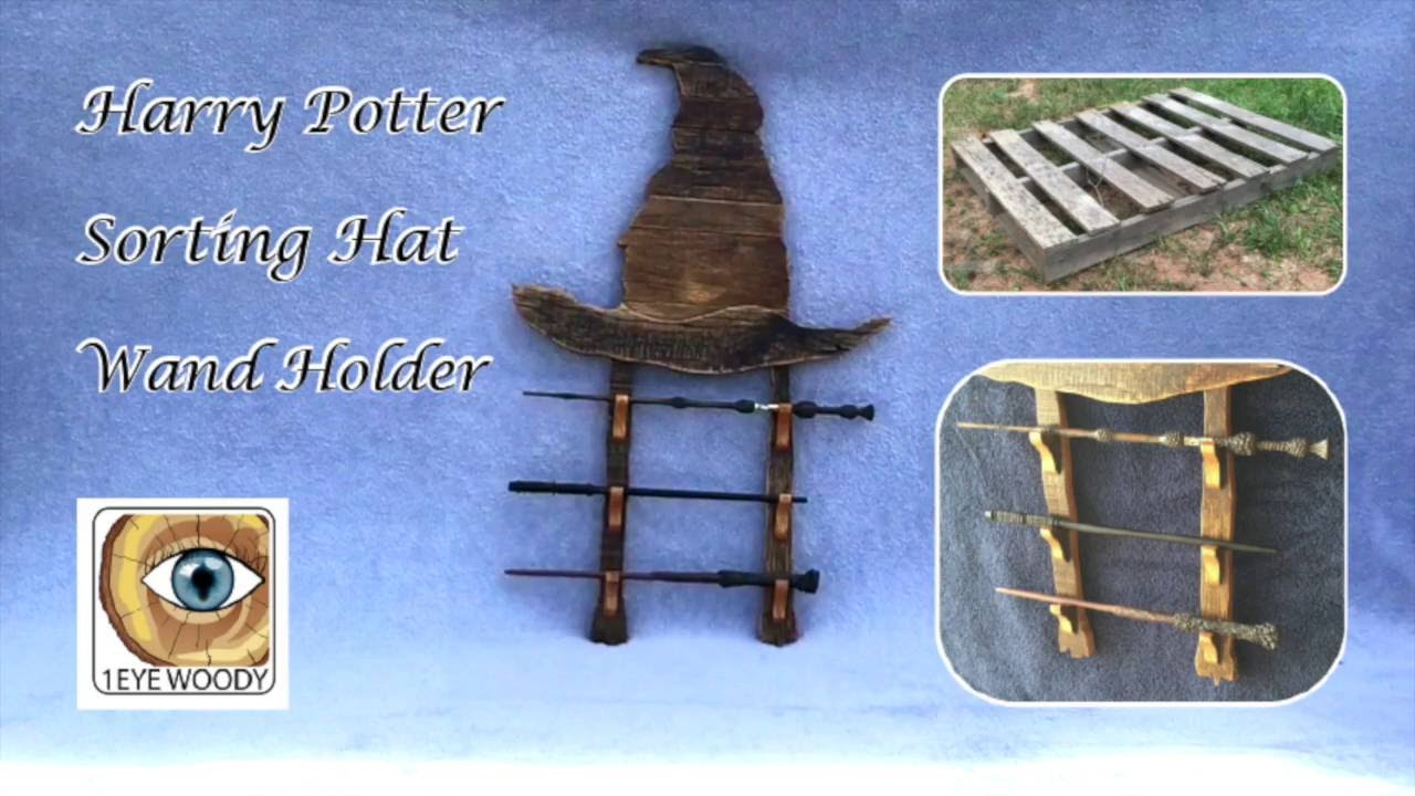 Making A Harry Potter Inspired Sorting Hat Wand Holder ...