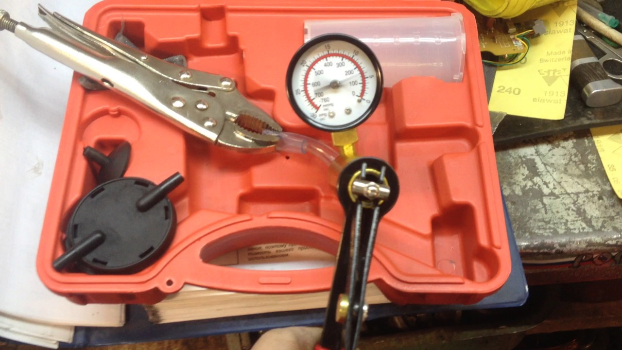Vacuum Pressure Pump Kit MengYoo Handheld Vacuum Pump Tester Brake Caliper Test Tool Set