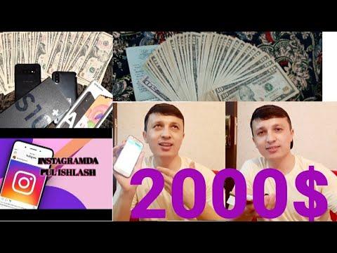 Instagramda Pul Ishlash Oyiga 2000$ Toping Siz Ham