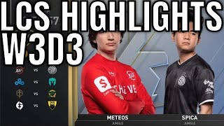 LCS Highlights ALL GAMES + Standings Week 3 Day 2 Summer 2020 League Championship Series