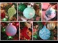 DIY ornaments! Glitter Ornaments, and Paint Filled Ornaments #CraftyChristmas Video 4