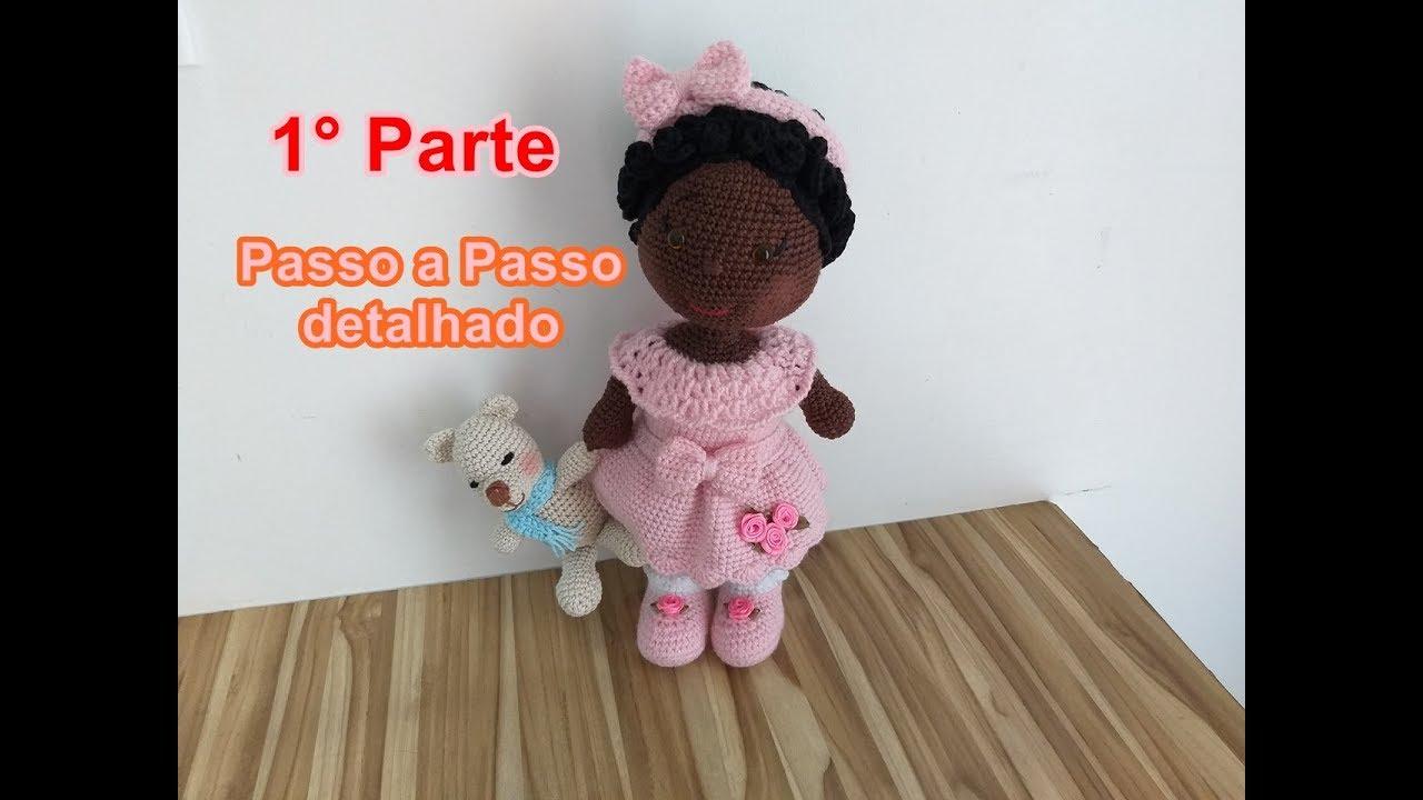 Receita Boneca Lara com Simoni Figueiredo | Bonecas de crochê ... | 720x1280