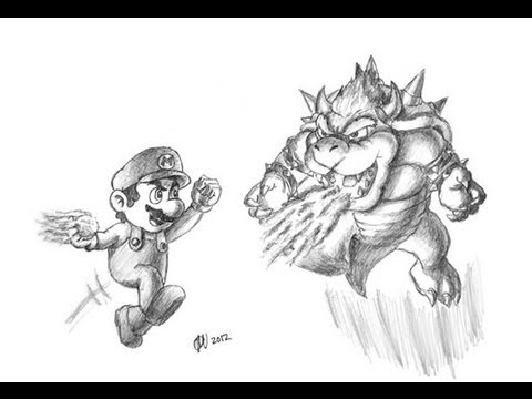 Special Mario Vs Bowser Drawing Thanks For 2000 Subs Youtube