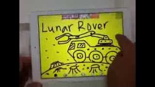 Drawing and Painting iPad Apps-Lunar Rover Draw, Sketch,Adion Shasha