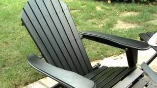 Big Daddy Adirondack Chair Black Round Dining Table And Chairs With Pull Out Footrest Plans Woodworking Challenge Ottoman Product Review Video