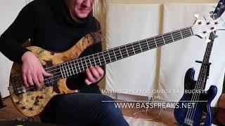 Maruszczyk Frog Omega 5A Buckeye Burl Live Demo - BassFreaks.net