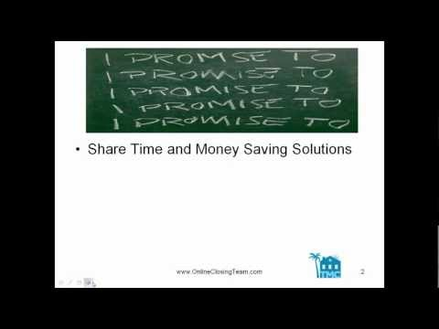 Getting Leveraged Webinar ~ Tips from a Transaction Coordinator