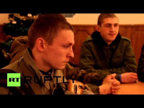 Ukraine: DNR/ DPR members kick back to watch Putin's annual Q&A session