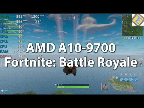 Fortnite: Battle Royale AMD A10-9700 R7 iGPU. Gameplay Benchmark Test