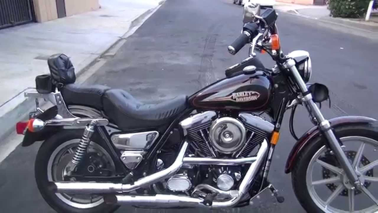 Hunting Harley S 1992 Fxrs 2400 Miles Youtube