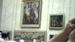 La folla per la Gioconda al Louvre