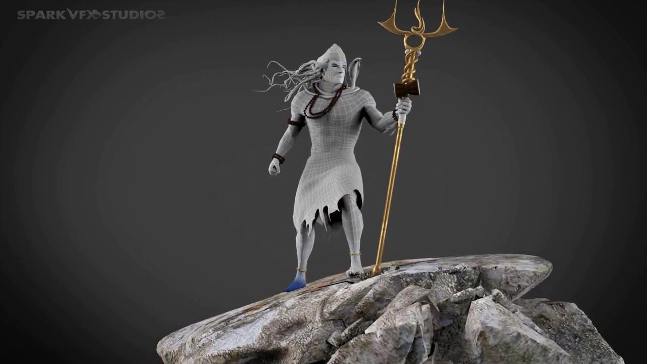 Eternity Lord Shiva | Modeling Texturing Reel 3D | Spark Vfx Studios